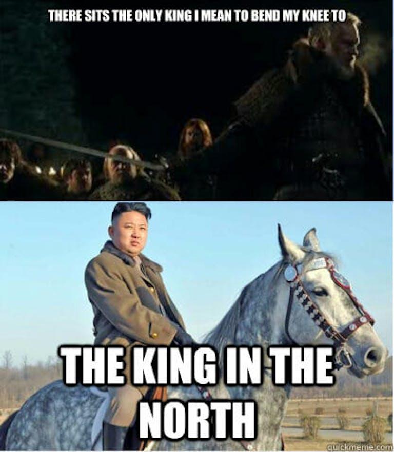 kim jong un king north meme