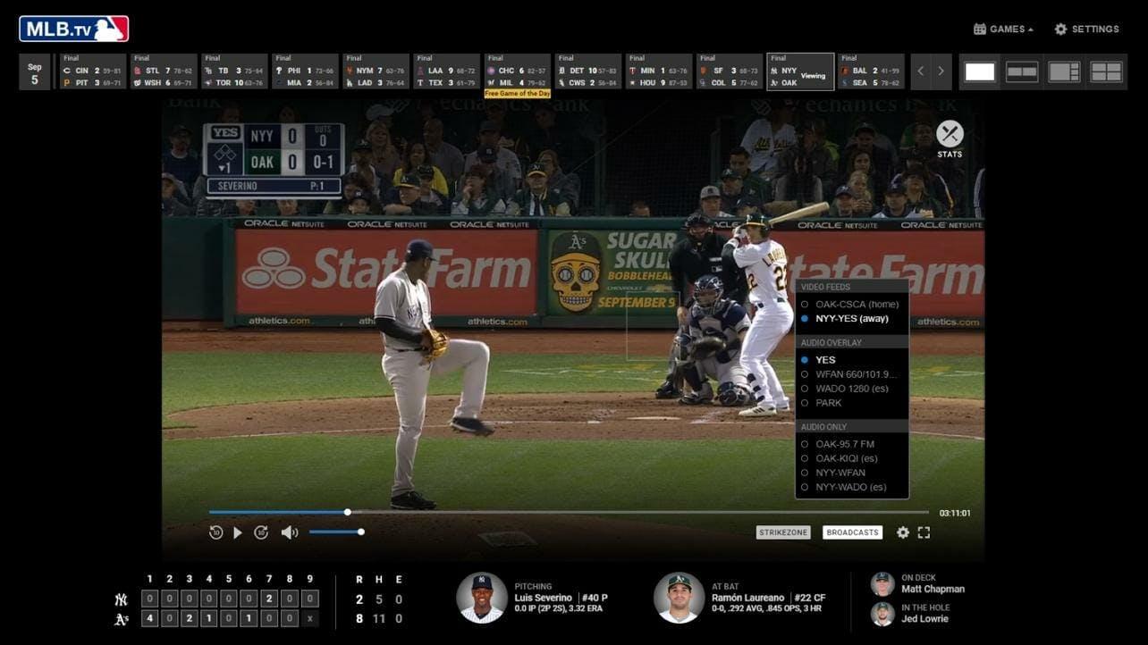 mlb game today tv live stream