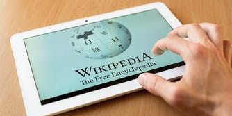wikipedia on tablet