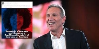 Howard Schultz Majority of Americans Are Americans Facebook ad