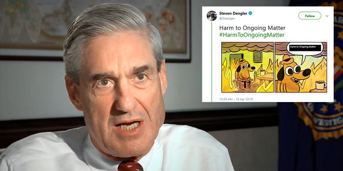 Mueller Report Harm To Ongoing Matter