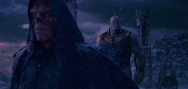 Red Skull Thanos and Gamora