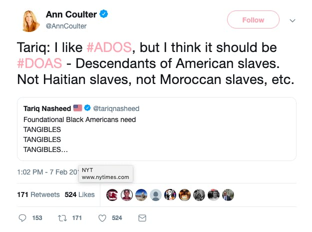 Ann Coulter ADOS