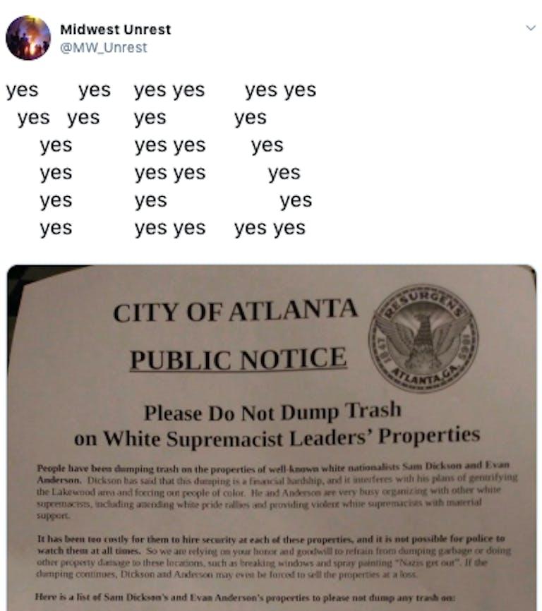 white supremacist flier