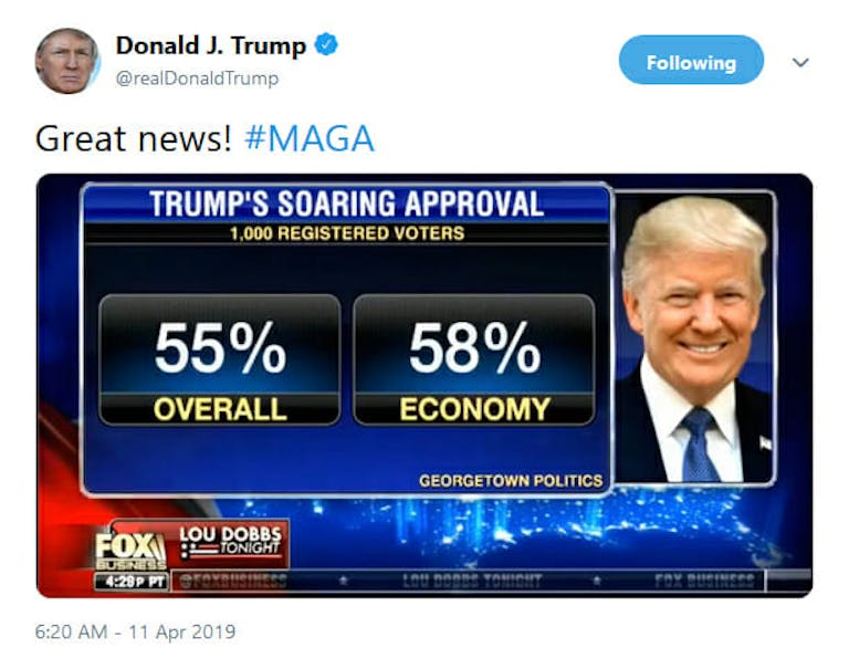 Trump Approval Rating Georgetown Poll Twitter