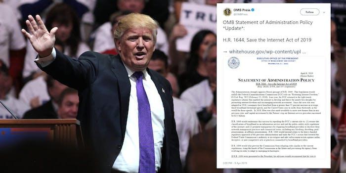Trump Veto Net Neutrality Save The Internet Act