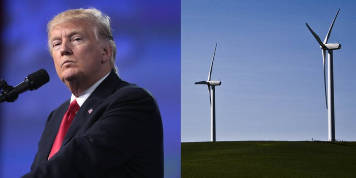 Trump Windmills Green New Deal AOC