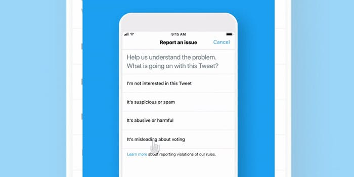 Twitter Tool Voting Misinformation