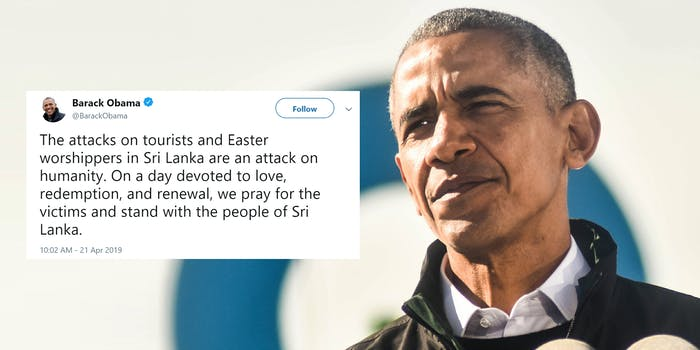 barack obama easter worshippers tweet
