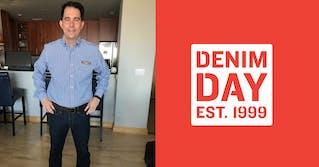 Left: Scott Walker in a Denim. Right: Denim Day Est. 1999