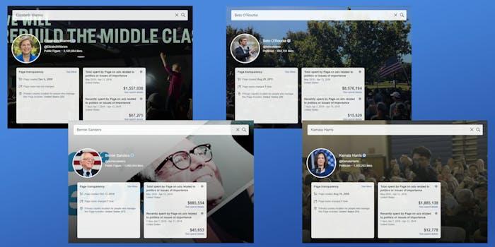 facebook political ad tool democrats