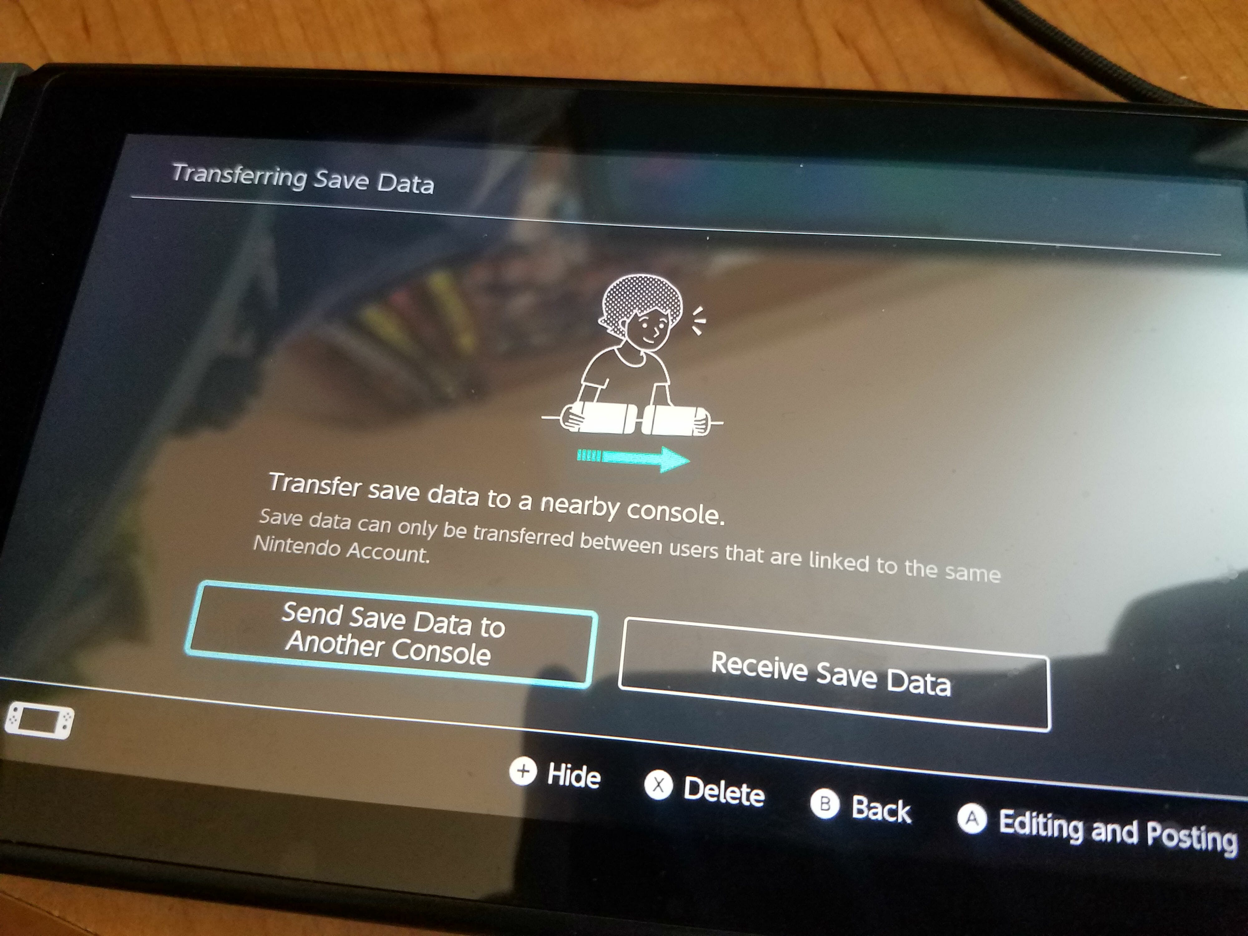 how to transfer nintendo switch save data