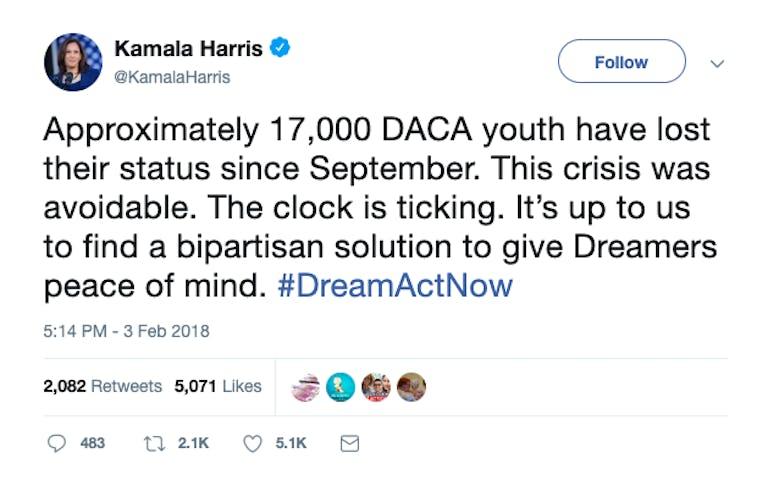 Kamala Harris 2020 immigration tweet