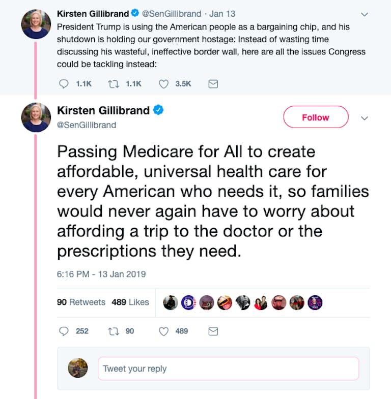 Kirsten Gillibrand 2020 Medicare