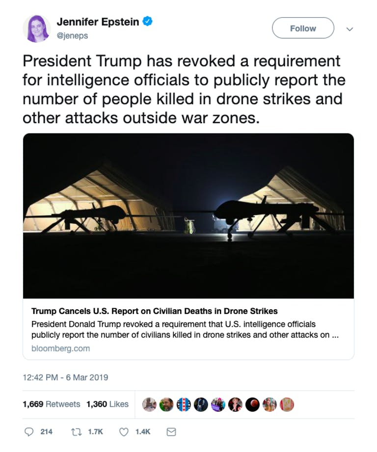 Obama vs Trump - Drone strike casualties
