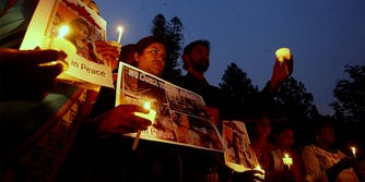 Sri Lankan terror attack candlelight vigil
