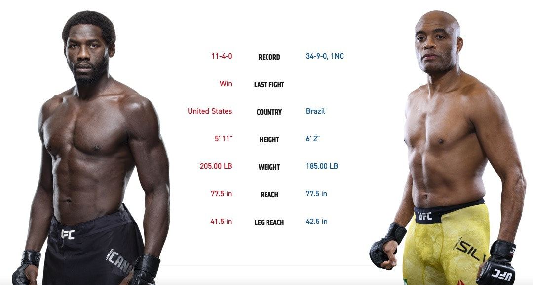 ufc 237 fight card Jared Cannonier vs. Anderson Silva