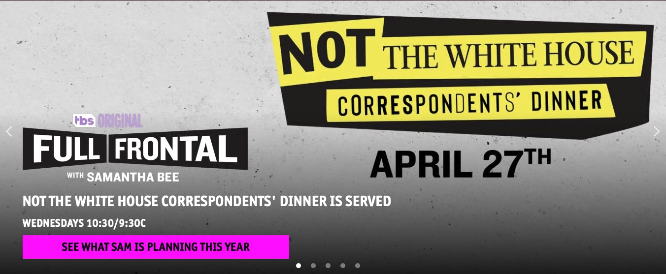 watch not the White House correspondents dinner online free on TBS