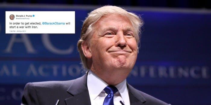 donald trump iran war twitter