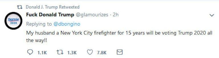 Donald Trump Fuck Donald Trump User Retweet