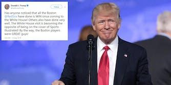 Donald Trump Red Sox Winning Tweet