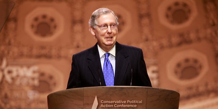 Net Neutrality Mitch McConnell Graveyard Video Senate Democrats