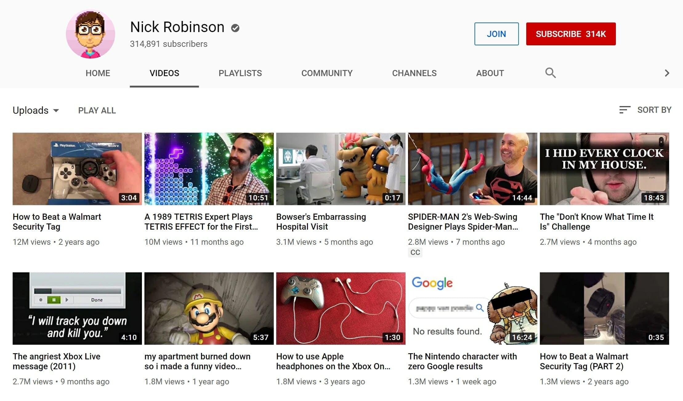 Nick Robinson YouTube