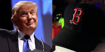 Red Sox Red Socks White House Donald Trump