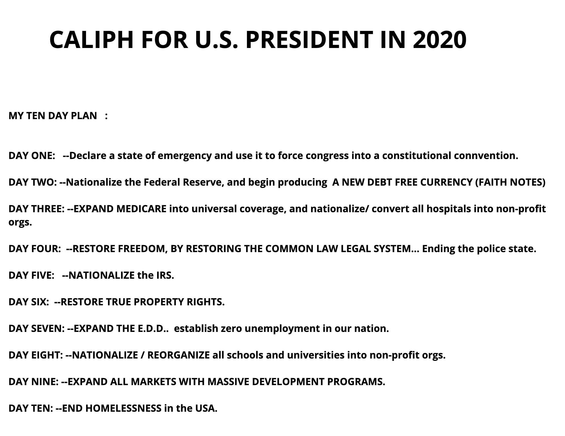caliph of god 2020