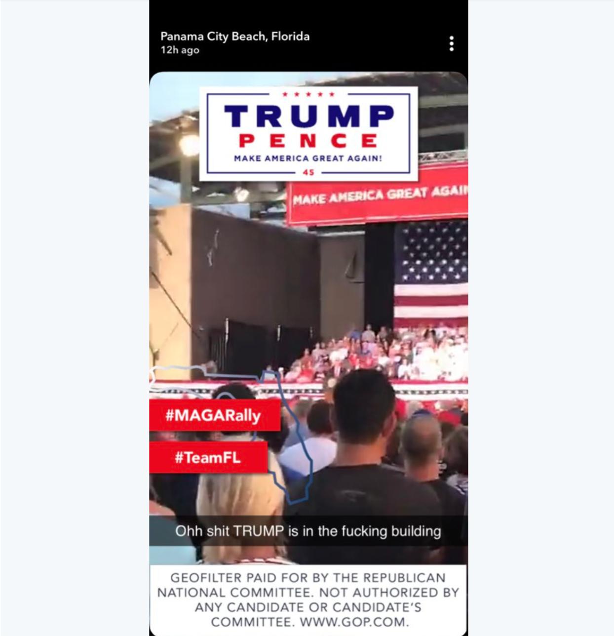 trump rally snapchat