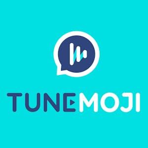 TuneMoji logo blue