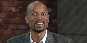 Someone is using a photo of ESPN host Bomani Jones to catfish folks on Tinder.