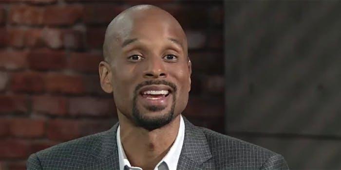 Someone is using a photo of ESPN host Bomani Jones to catfish folks on Tinder.