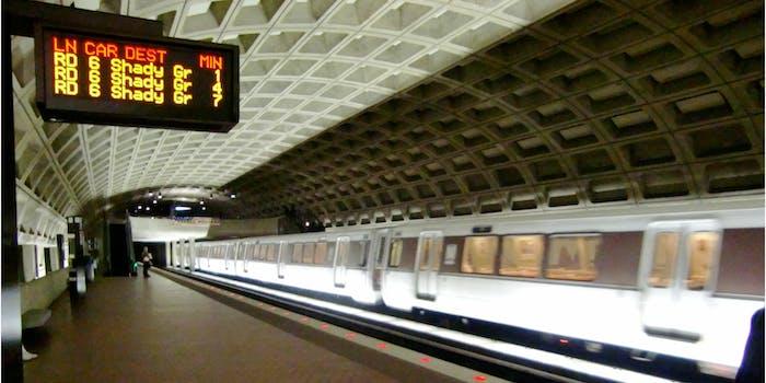 D.C. metro train