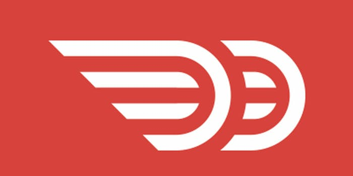 Door Dash logo on a red background