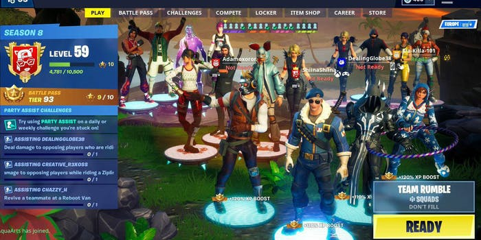 fortnite 16 player lobby featured