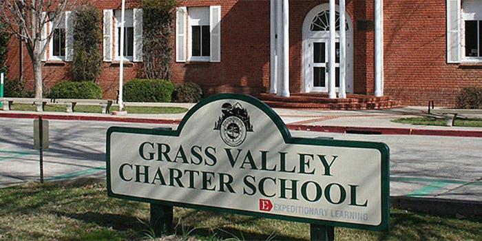 grass valley charter school qanon blue marble fundraiser