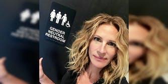 julia roberts gender-neutral bathroom