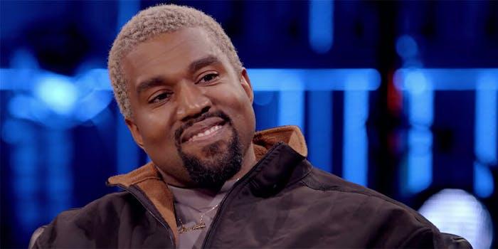 Kanye West appears on David Letterman's Netflix show.