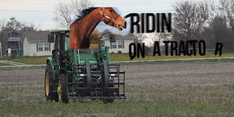old town road horse tractor