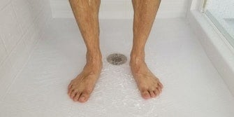 wash feet in the shower