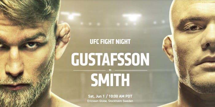 watch ufc fight night 153 smith gustafsson stockholm live stream