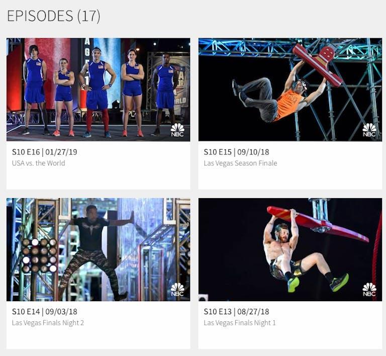 watch amercan ninja warrior season 11 online free on NBC
