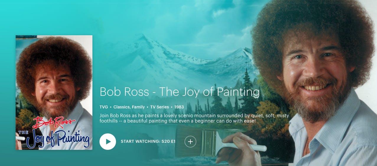 watch Bob Ross joy of painting online free on hulu