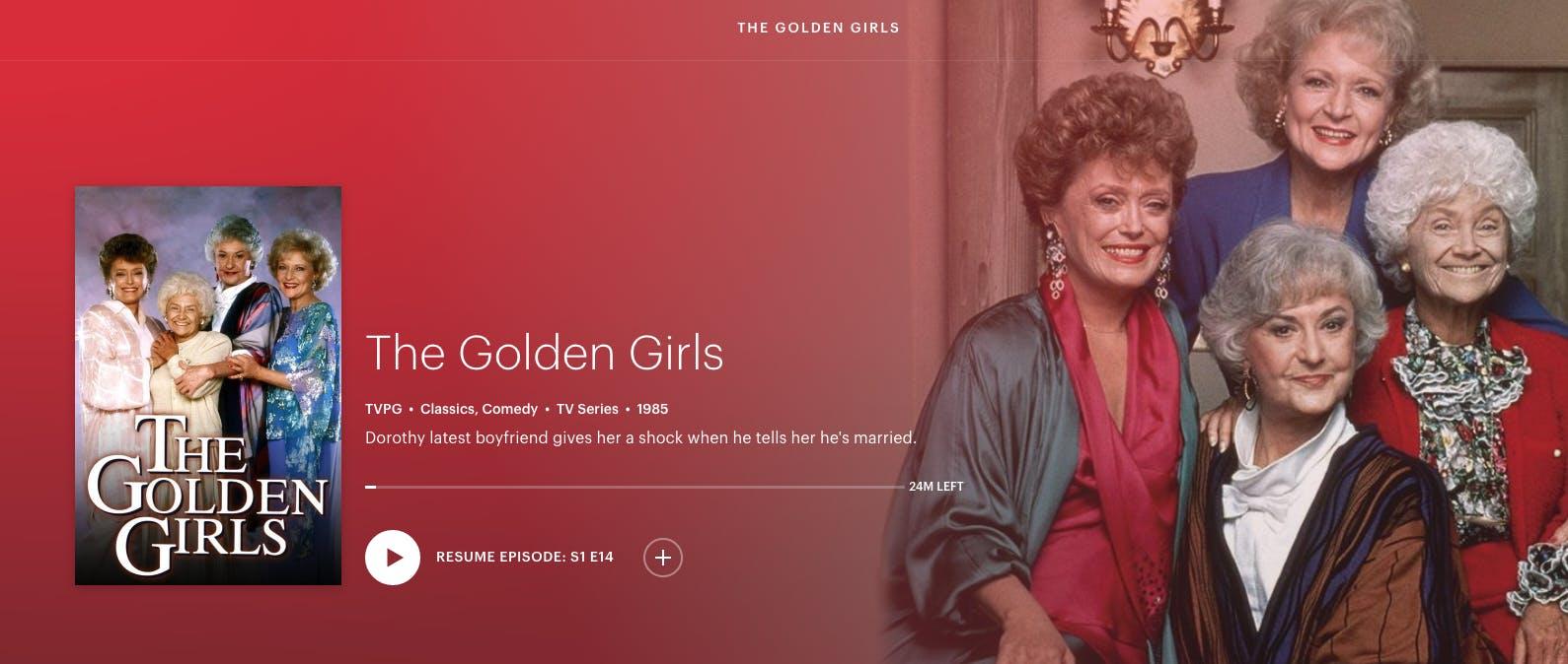 watch the golden girls free on Hulu