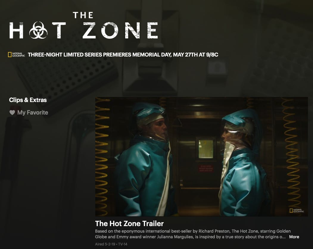 watch the hot zone online free on National Geographic