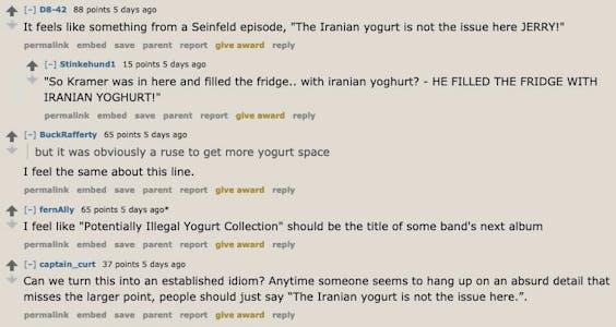 yogurt reddit comments