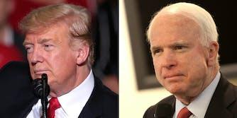 Donald Trump John McCain #JohnMcCainDay