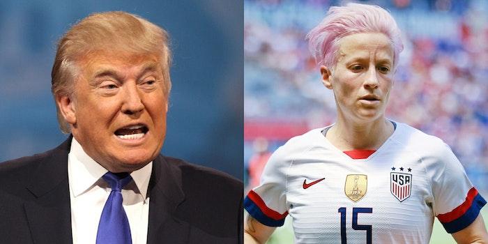 Donald Trump Megan Rapinoe