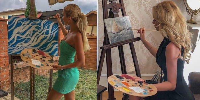 Instagram artist paint pallet
